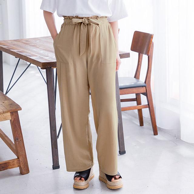 <Summer Sale!!>high waist ribbon pants[1603M]