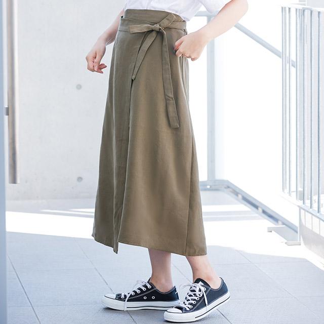 ラップミディスカート(全2色)[1609M]