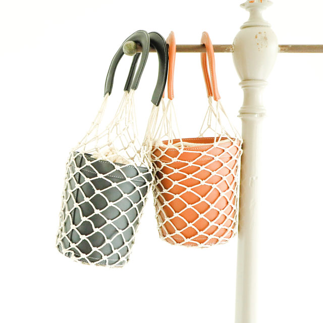 <FINAL SALE>fishnet bucket bag[160B]