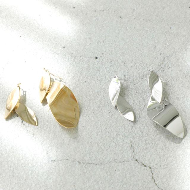 リーフ型イレヘムピアス(全2色)[160J]