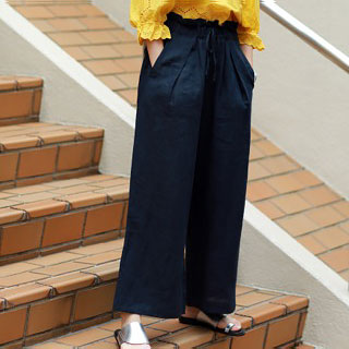 <bottom fair!!6/8(mon)am11:59まで><Sale!!>waist ribbon wide pants[165M]