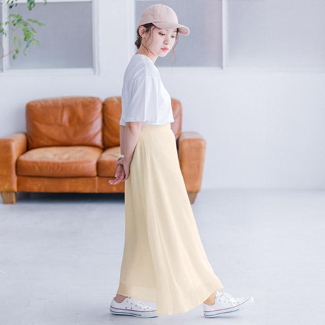 <Summer Sale!!>chiffon flare skirt[1691M]