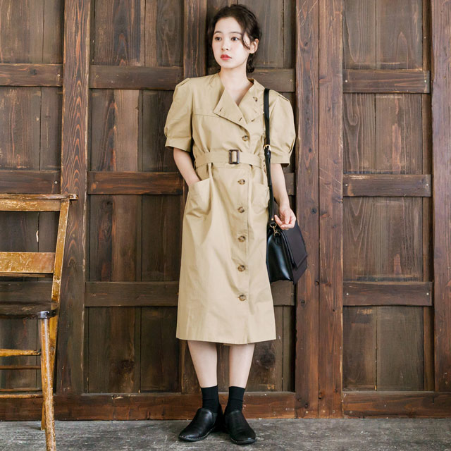 <FINAL SALE>trench onepiece[169E]