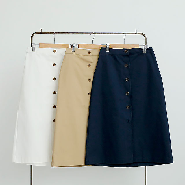 front button chino skirt[172M]