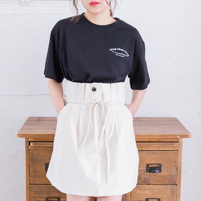 <Summer Sale!!>waist ribbon mini skirt[1749M]
