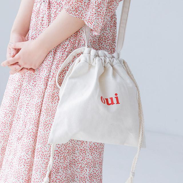 ≪村田倫子select≫oui巾着バッグ(全1色)[175B]