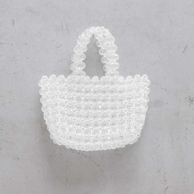 ≪FINAL SALE≫クリアビーズバッグ(全1色)[177B]