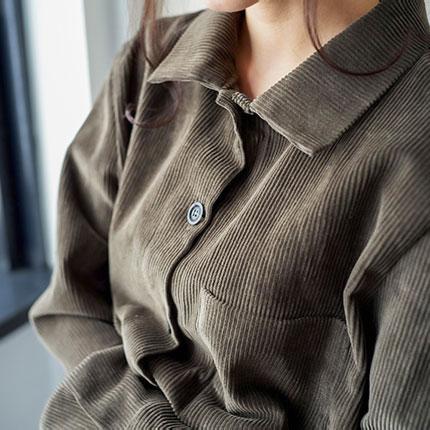 コーデュロイフロントボタンシャツ (全3色)[179C]
