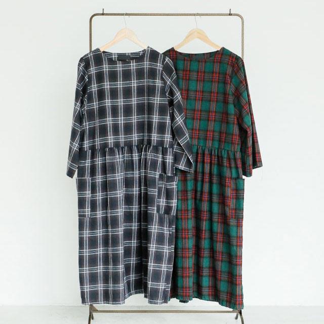 ≪村田倫子Select≫チェック柄ワンピース(全2色)[184E]