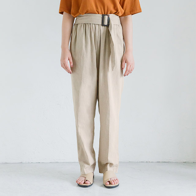 <bottom fair!!6/8(mon)am11:59まで><Sale!!>waist belt cotton tapered[1881M]