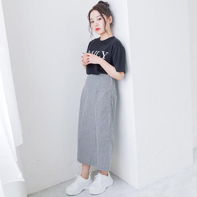 ギンガムチェックタイトスカート(全2色)[1900M]