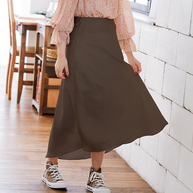 <FINAL SALE>glossy flare skirt[1915M]