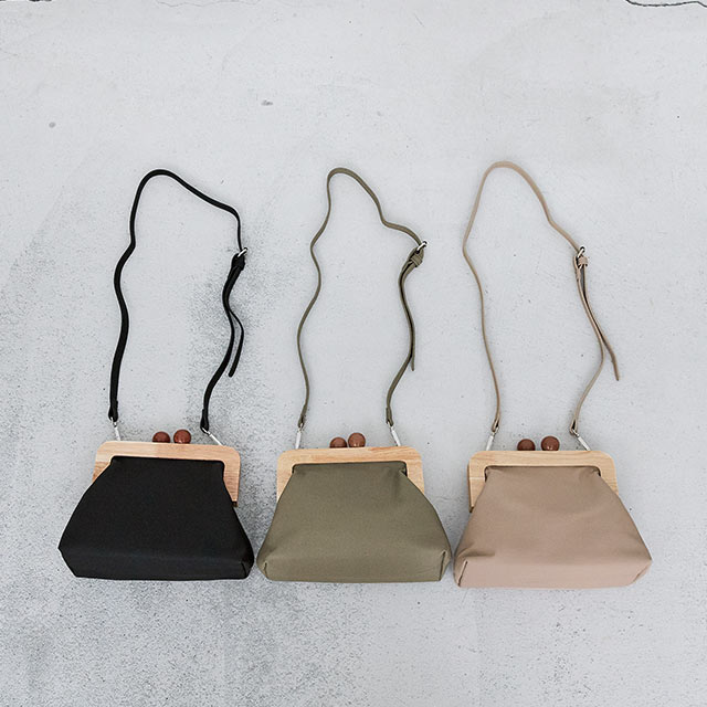 【2/23(sun)19:00〜】<New10%OFF>wood gamaguchi shoulder bag[191B]