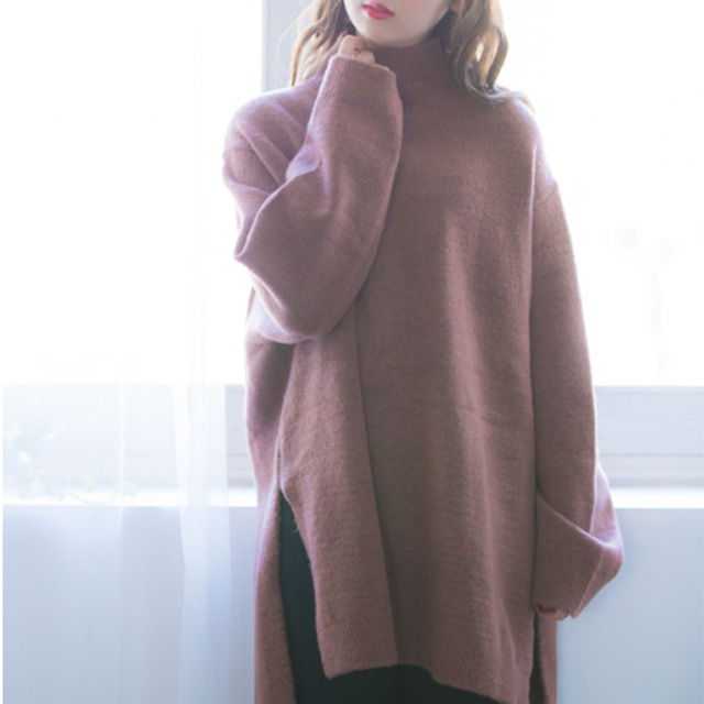 high neck oversized knit onepiece[191E]