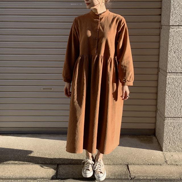 ≪村田倫子Select≫コーデュロイフレアワンピース(全3色)[193E]