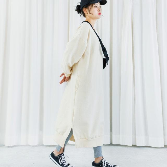 ≪村田倫子 Select≫スウェットロングワンピース(全2色)[194E]