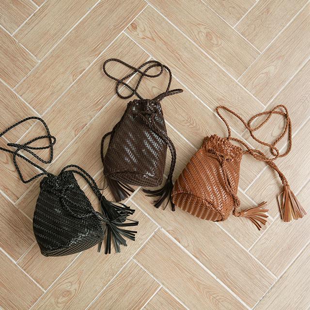 mesh kinchaku shoulder bag[197B]