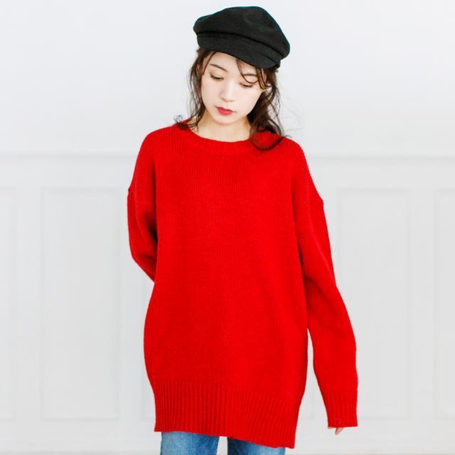 <FINAL SALE>simple round neck knit[197C]