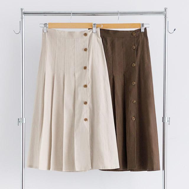 ≪村田倫子select≫サイドボタンプリーツスカート(全2色)[1991M]