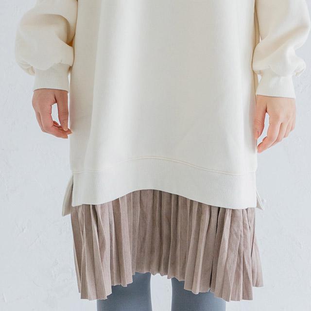 裾プリーツワンピース(全3色)[199E]