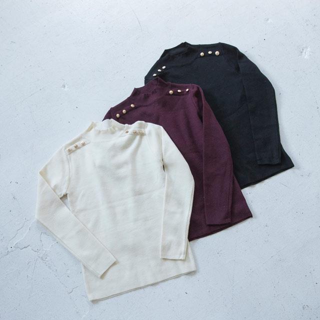 <FINAL SALE>york button rib knit[2011C]