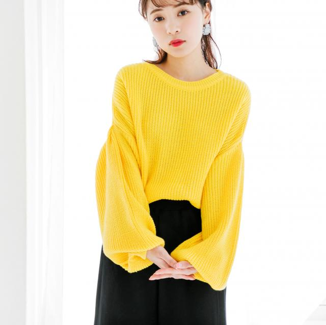 <CLEARANCE SALE>flare sleeve knit[203C]