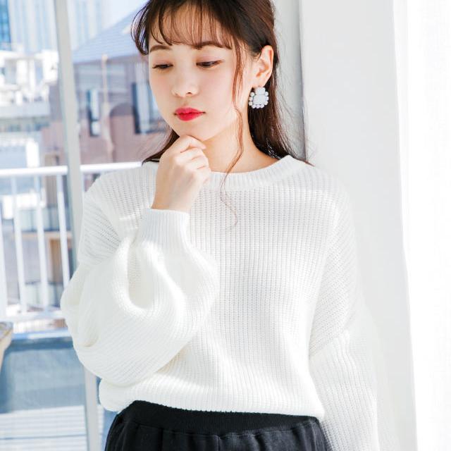 flare sleeve knit[203C]