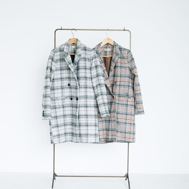 <Spring Sale>check tailored coat[203K]