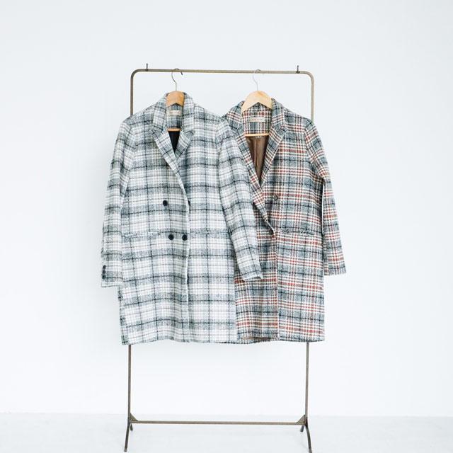 check tailored coat[203K]