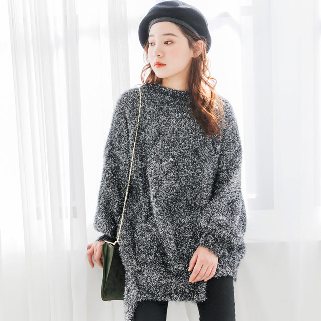 <CLEARANCE SALE>volume silhouette lame knit[2060C]