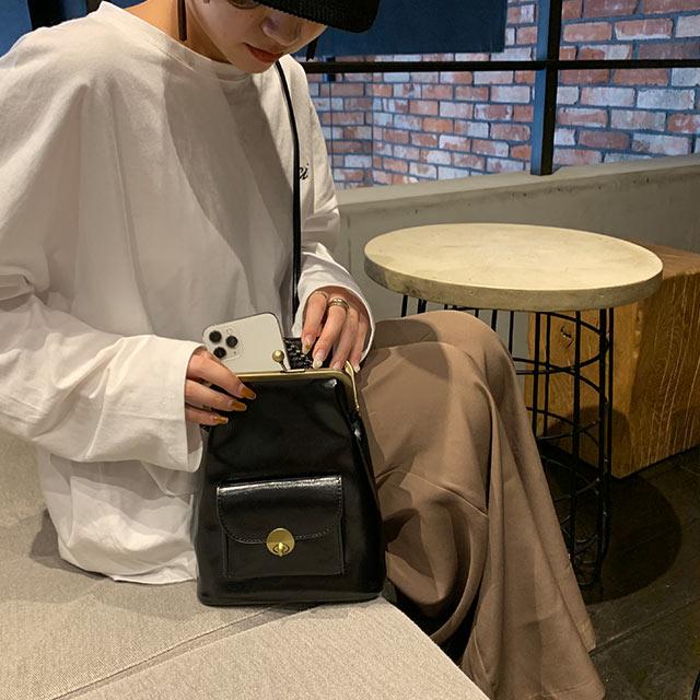 【10/22(thu)21:00〜】【Mayu Hotta × Isn't She?】gamaguchi mini shoulder bag[206B]【11月上旬予約】