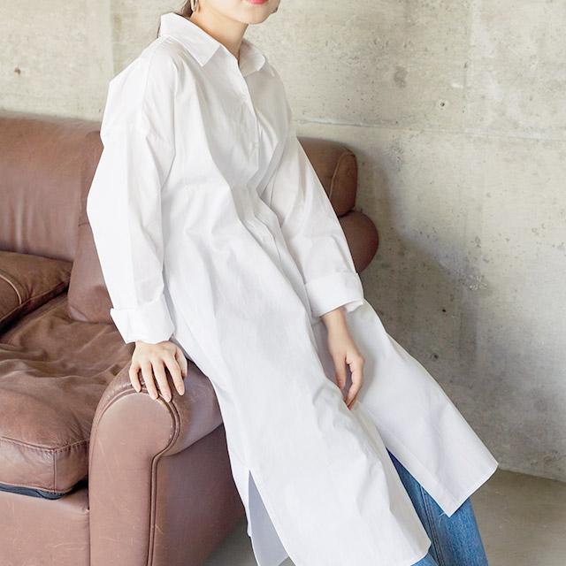 ルーズシャツワンピ(全3色)[209E]