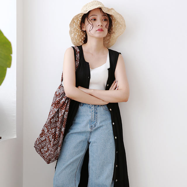 【8/13(thu)19:00〜】front button tiered onepiece[2138E]
