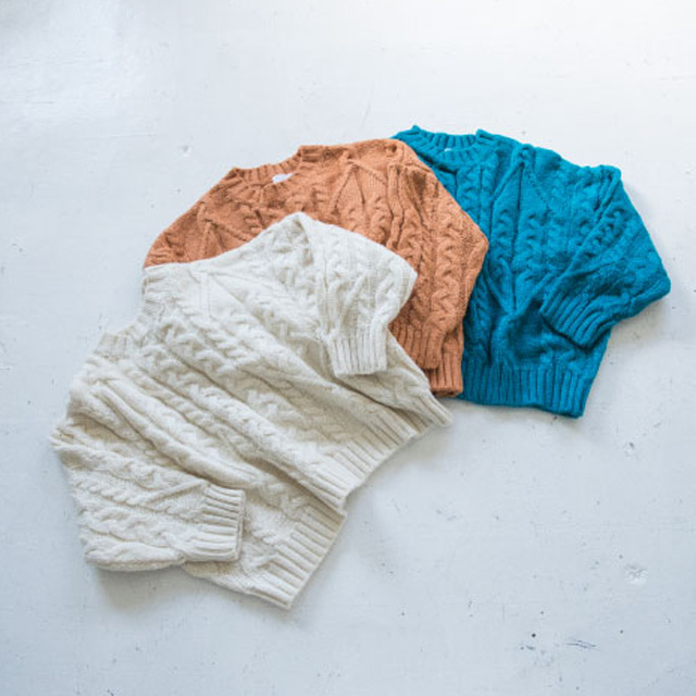 cable knit tops[2141C]