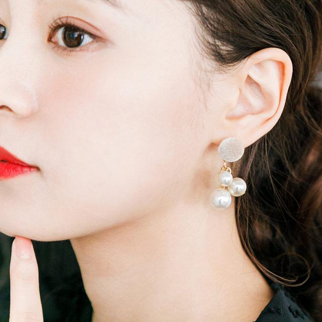 ≪FINAL SALE≫パールピアス(全2色)[214J]