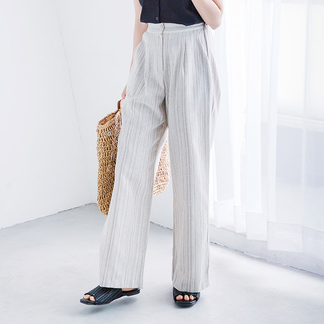 <bottom fair!!6/8(mon)am11:59まで>stripe straight wide pants[2168M]