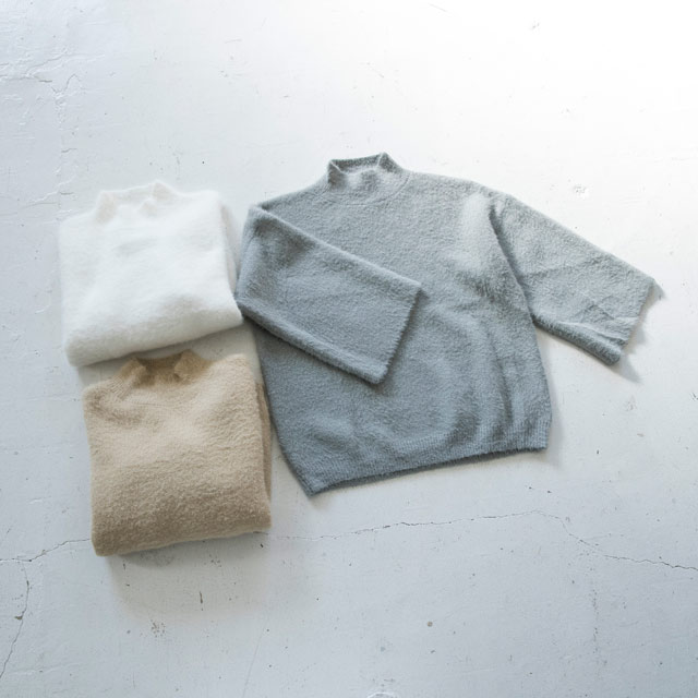 <FINAL SALE>shaggy bottle neck knit tops[2209C]