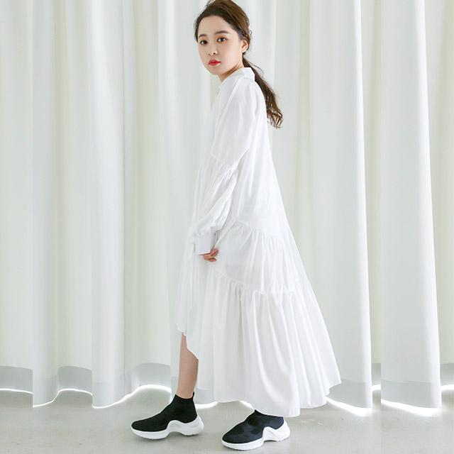 ティアードシャツドレス(全2色)[221E]