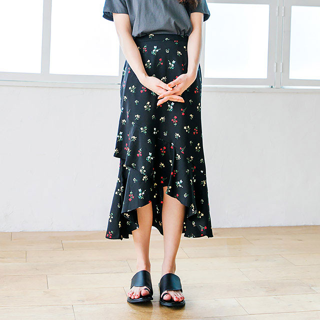 <FINAL SALE>small floral long skirt[229M]