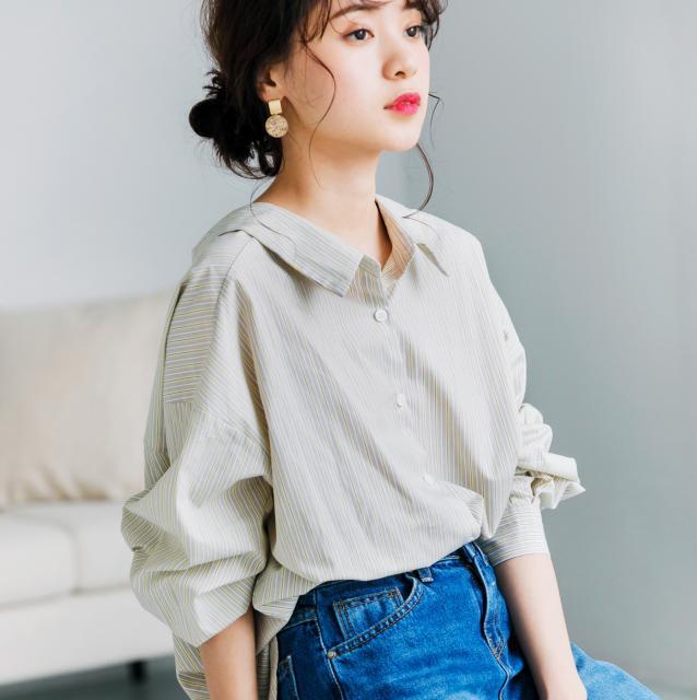 ベーシックストライプシャツ(全2色)[230C]