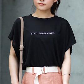 <Summer Sale!!>tencel logo t-shirt[237C]