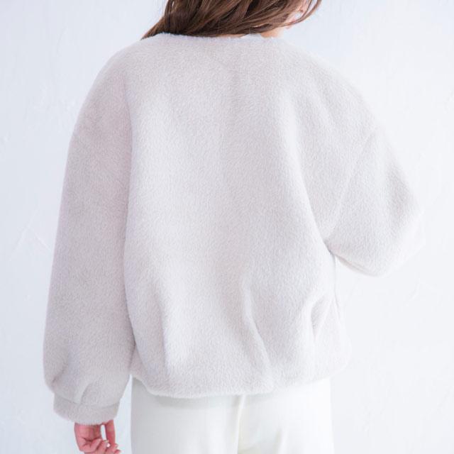 no collar fur short coat[238K]
