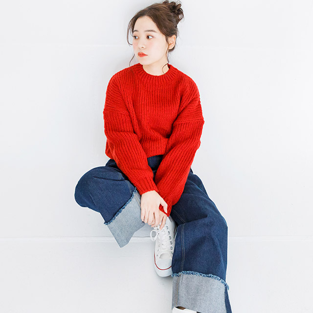 **rinko select**simple cropped knit[2428C]