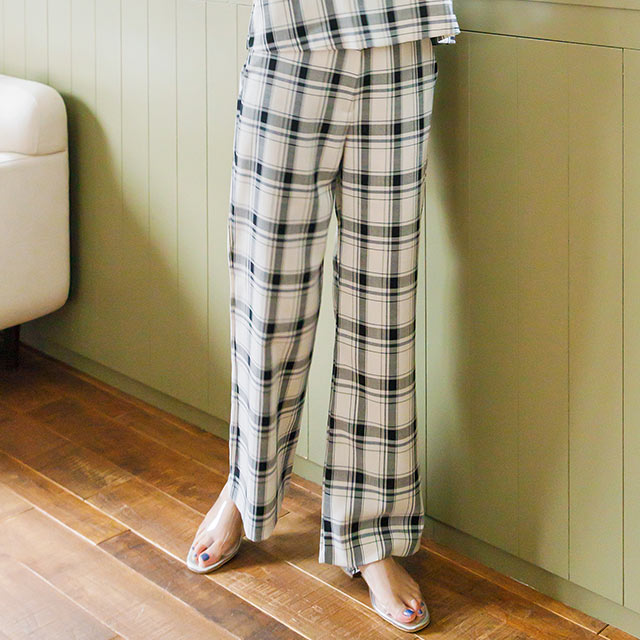 <bottom fair!!6/8(mon)am11:59まで><Sale!!>check slacks[2495M]