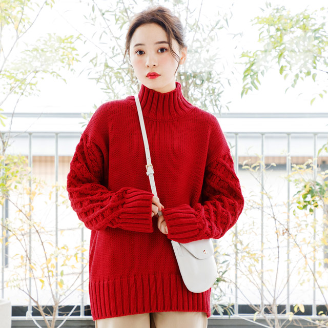 <FINAL SALE>sleeve knit switching knit[2500C]