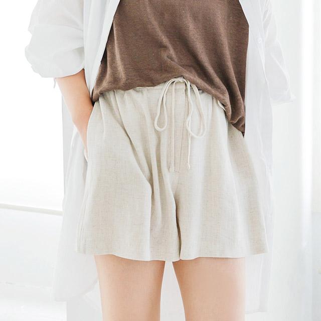 <Summer Sale!!>linen flare shorts[2557M]