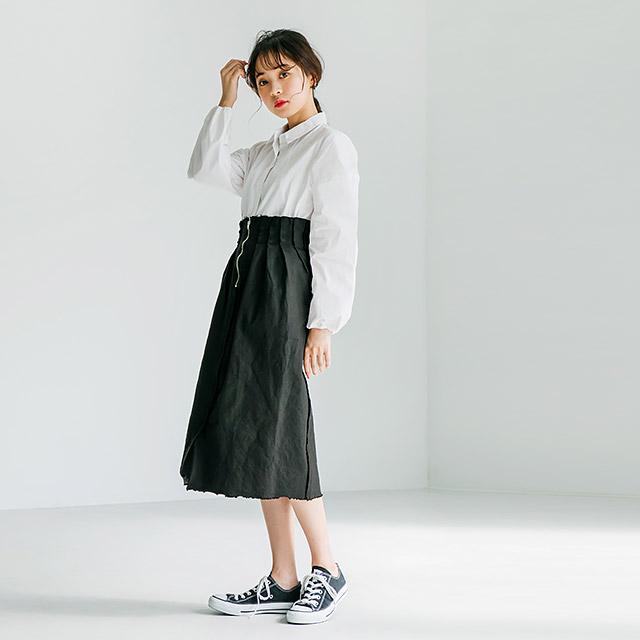 フロントジッパースカート(全3色)[255M]