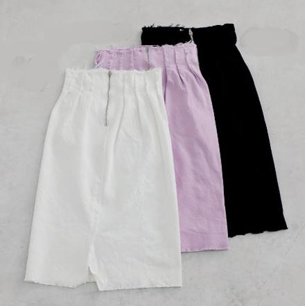 <Summer Sale!!>front zipper skirt[255M]