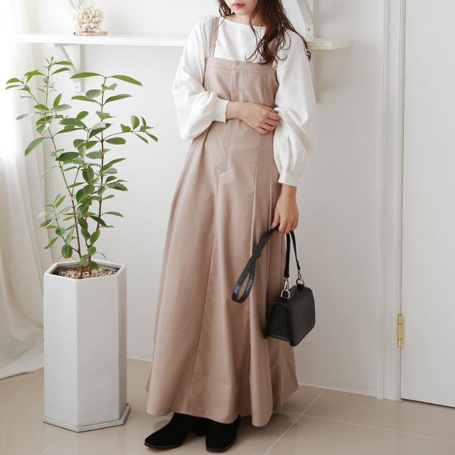 【MERY × Isn't She?】flare jumper skirt[2571E]≪送料無料≫