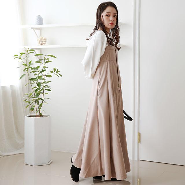 【MERY×Isn'tShe】フレアジャンパースカート[2571E]≪送料無料≫